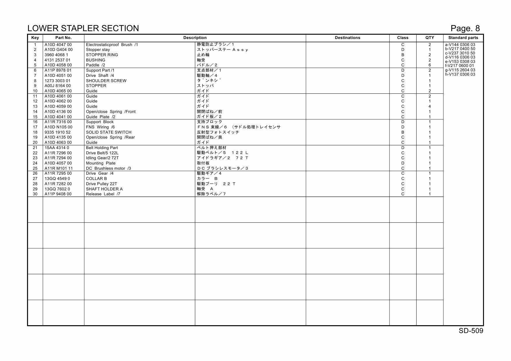 Konica Minolta Options Sd 509 A10d Parts Manual Hp Printer Diagram 3